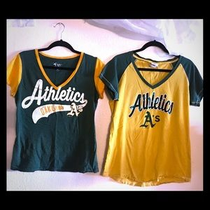 Tops - Oakland A's Lot/Bundle of 2 T-shirts
